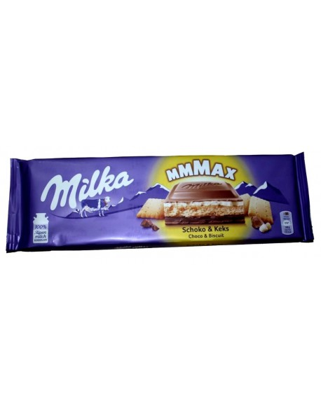 Шоколад Milka MAX Choco Biscuit Молочный Шоколад Пряник 300 г (7622200009084)