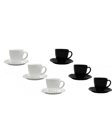 Набор чашек с блюдцем Luminarc Carine Black&White