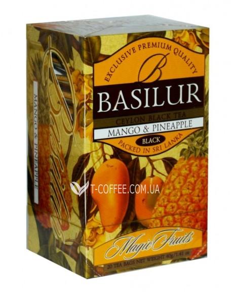 Чай BASILUR Mango Pineapple Манго Ананас - Волшебные Фрукты 20 х 2 г (4792252918115)