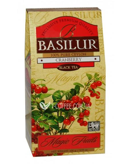 Чай BASILUR Cranberry Клюква Черный - Волшебные Фрукты 100 г к/п (4792252934740)