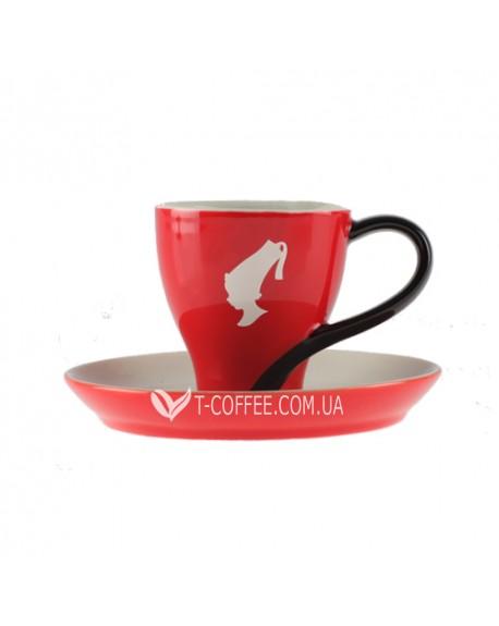 Чашка с блюдцем Julius Meinl Меланж фарфоровая красная 120 мл