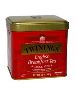 Чай TWININGS English Breakfast Англійський Сніданок 100 г ж/б (070177029630)