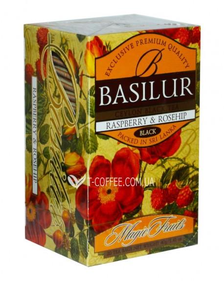 Чай BASILUR Raspberry Rosehip Малина Шиповник - Волшебные Фрукты 20 х 2 г (4792252001084)
