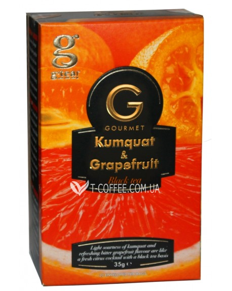Чай Grace! Gourmet Kumquat Grapefruit Кумкват Грейпфрут 20 х 1,75 г (5060207697378)