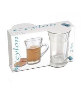 Набор чашек BORGONOVO Ceylon стеклянный 2 х 230 мл