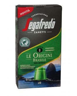 Кофе SEGAFREDO Nespresso Le Origini Brasile в капсулах 10 х 5,1 г (8003410248194)