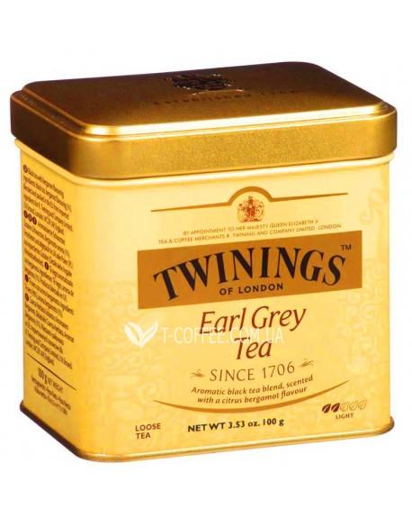 Чай TWININGS Earl Grey Tea Эрл Грей 200 г ж/б