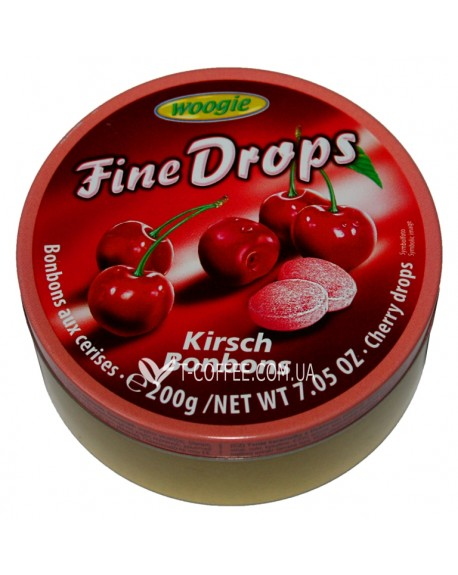 Леденцы Fine Drops Kirsch Bonbons Вишня 200 г (9002859055560)