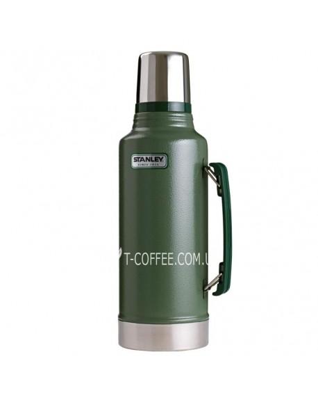 Термос Stanley легендарный классический с ручкой зеленый 1900 мл (4823082708468)