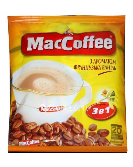 Кофе MacCoffee 3в1 French Vanilla Французская Ваниль растворимый 20 х 18 г эконом.пак. (8887290109871)