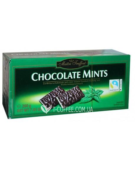 Шоколад Maitre Truffout Chocolate Mints Мята 200 г (9002859044694)