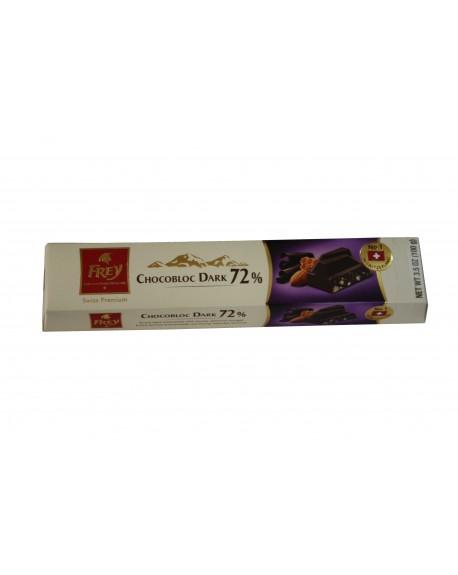 Шоколад Frey Chocobloc Dark 72% черный с медово-миндальной нугой 100 г