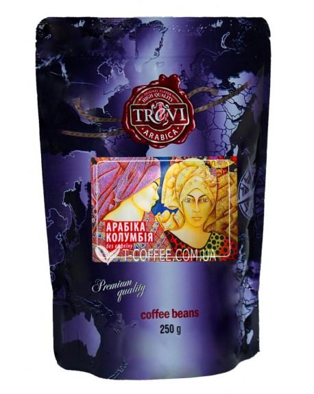 Кофе Trevi Арабика Колумбия без кофеина зерновой 250 г (4820140050835)