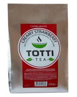 Чай TOTTI Creamy Strawberry Сливочная Клубника 250 г ф/п (8719325127089)