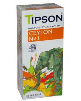 Чай TIPSON Ceylon №1 OPA Цейлонський 25 х 2 г (4792252002067)