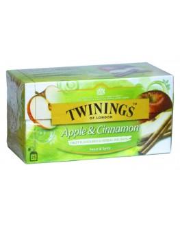 Чай TWININGS Apple Cinnamon Яблуко Кориця 25 х 2 г (070177273354)