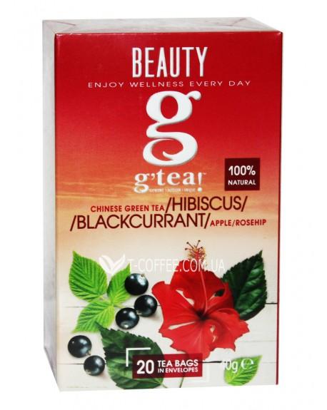 Чай GRACE! Green Tea Hibiscus Blackcurrant Зеленый чай Гибискус Черная смородина - Wellness 20 х 2 г (5060207695855)