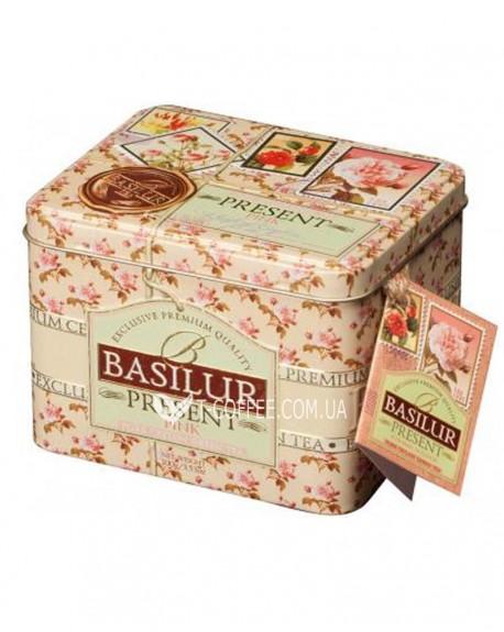Чай BASILUR Pink Caddy Розовый Подарок - Праздничная 100 г ж/б (4792252100282)