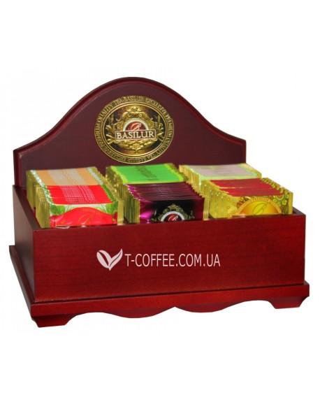Шкатулка для чая открытая BASILUR Wooden Boxes 6 ячеек