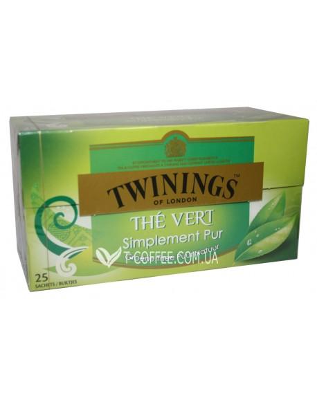 Чай TWININGS The Vert Зеленый Классический 25 х 1,5 г (5055953902463)