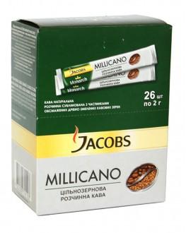 Кава JACOBS Millicano цільнозернова розчинна в стіках 26 х 2 г (4820206290168)