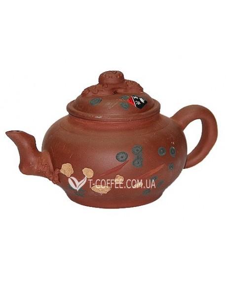 Чайник Зеленая Ветка глиняный 350 мл