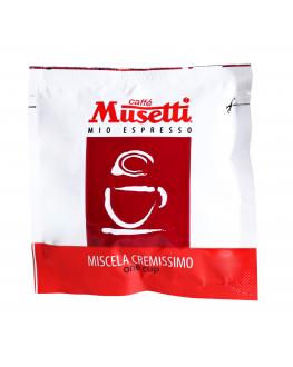 Кофе MUSETTI Cremissimo в монодозах (чалдах, таблетках) 150 х 7 г
