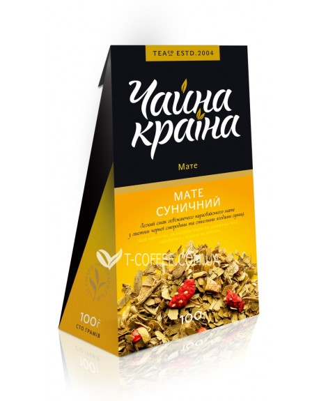 Мате Земляничный этнический чай Чайна Країна 100 г к/п
